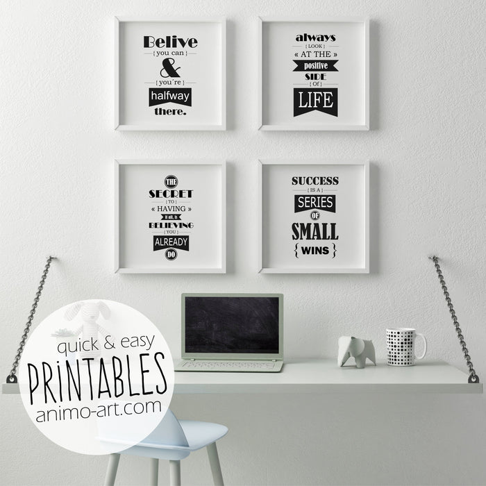 "Printables ""Motivation"" - Digital Downloads"
