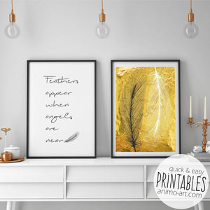 Von Engeln & Federn - Digital Download / PRINTABLE Wallart_Printable_handmade_animoART