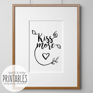 Kiss more - PRINTABLE - Digital Download_Printable_handmade_animoART