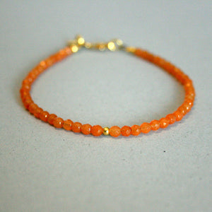 "Edelstein-Armband ""Aventurin-Sonnenstein"" orange - gold - animoart"