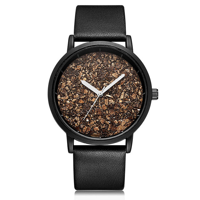 Natural Gravel Stone Face Watch