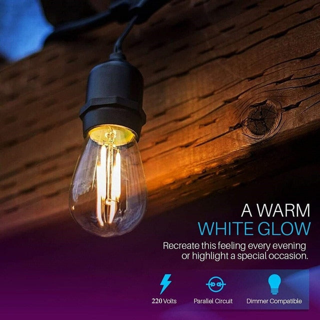 Waterproof Bulb Outdoor Patio Lighting