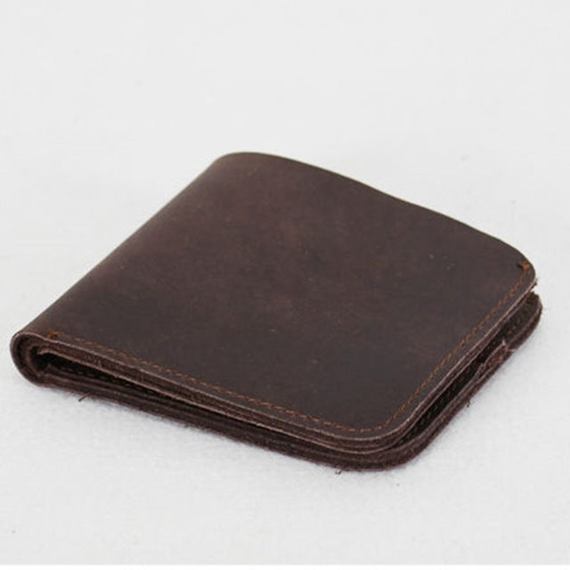 Vintage cross style genuine leather wallet