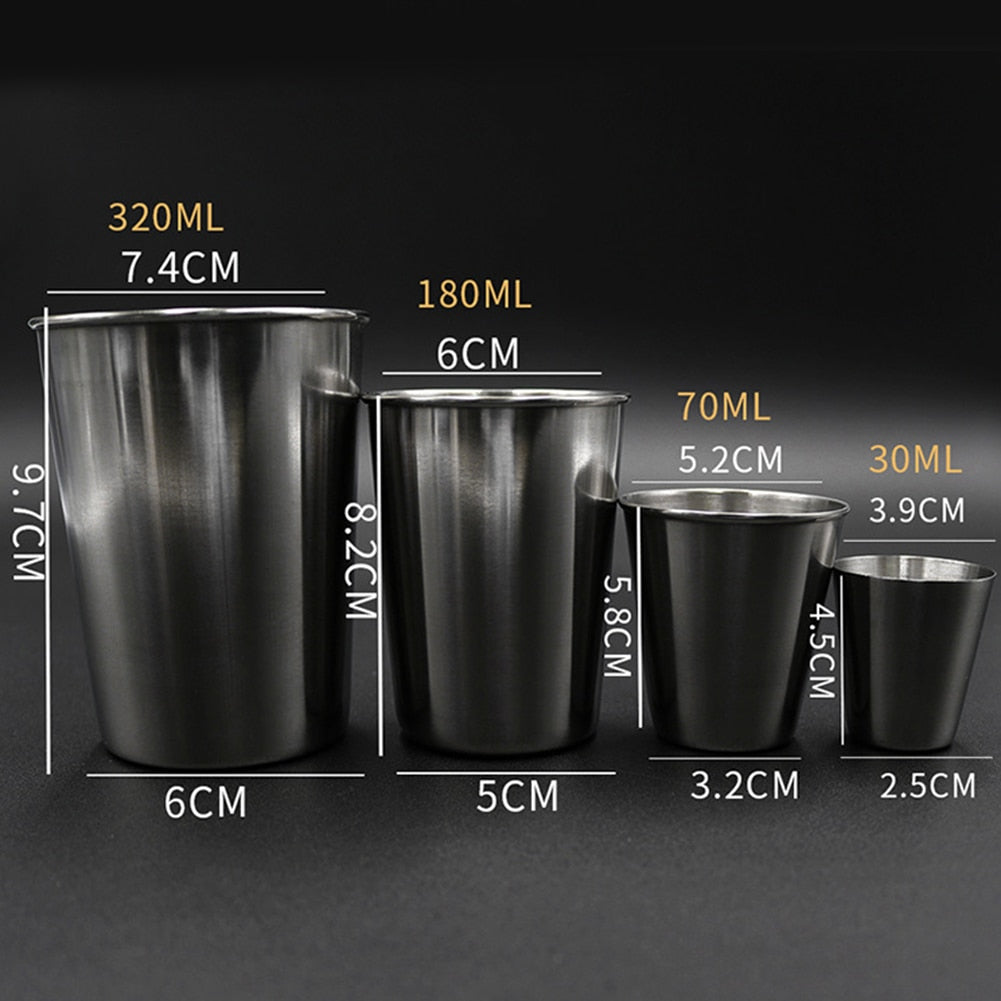 Stainless Steel Shot & Pint Glasses
