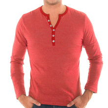 Load image into Gallery viewer, Men's Long Sleeve Henley
