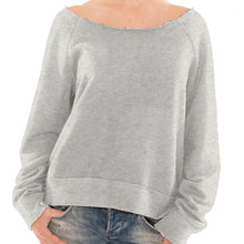 Load image into Gallery viewer, Womens French Terry RAW edge Crewneck