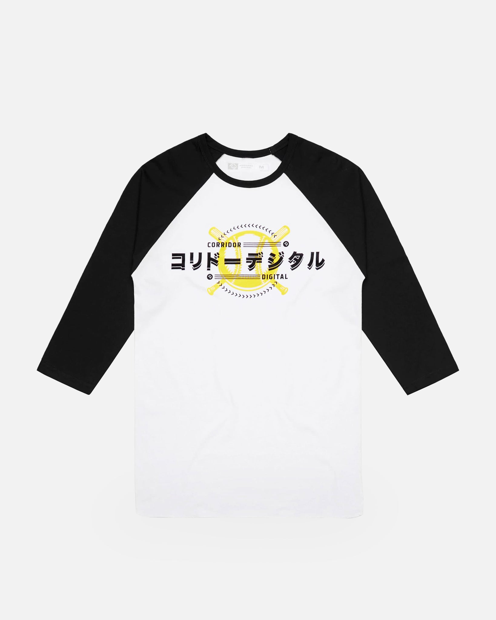 Corridor Baseball 3/4 Sleeve Raglan - White/Black