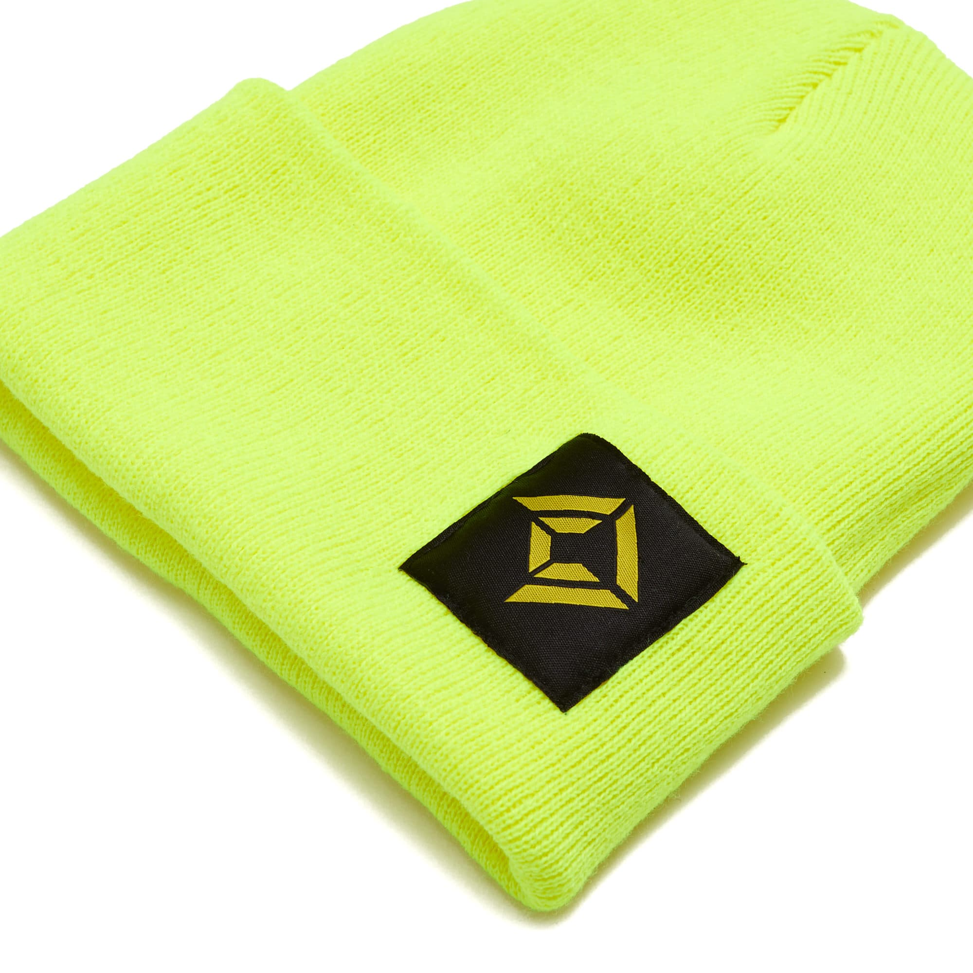 Corridor Digital Cuff Beanie - Neon Yellow