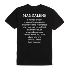 MAGDALENE womans touch black t-shirt