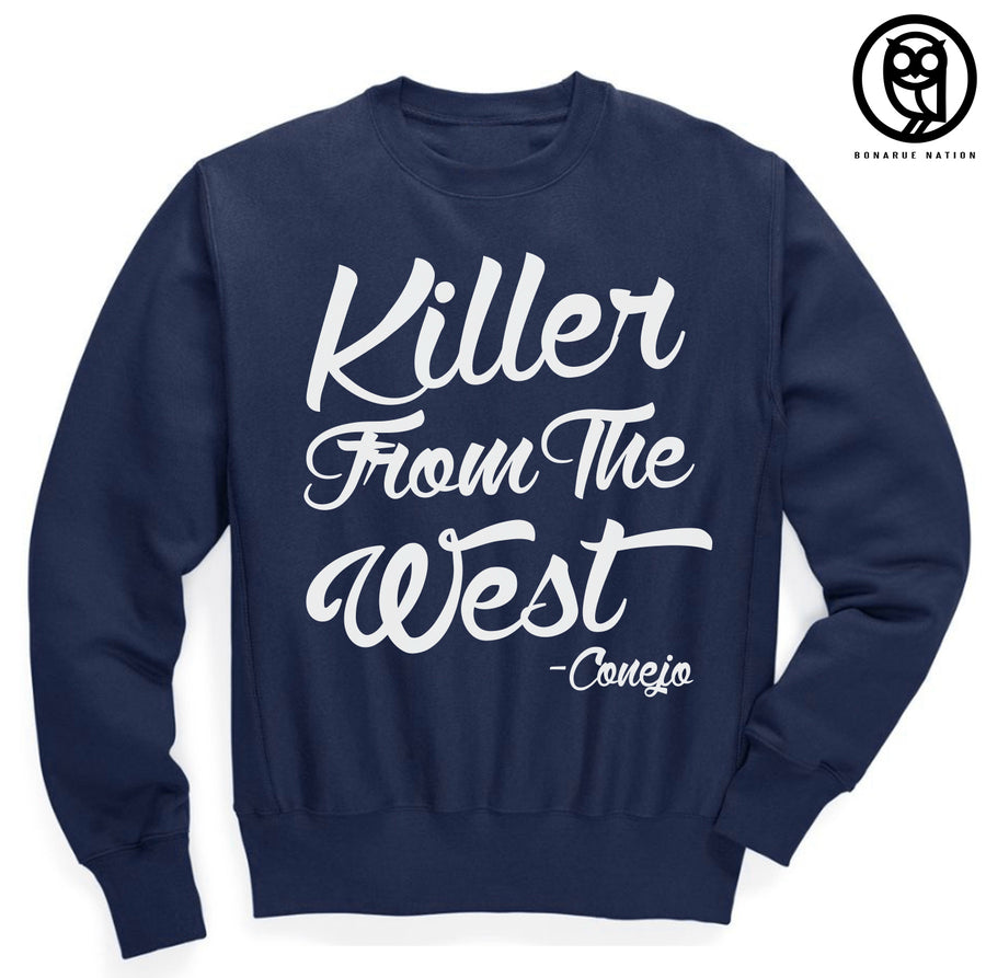 """Killer From The West"" Navy Blue Crew Neck"