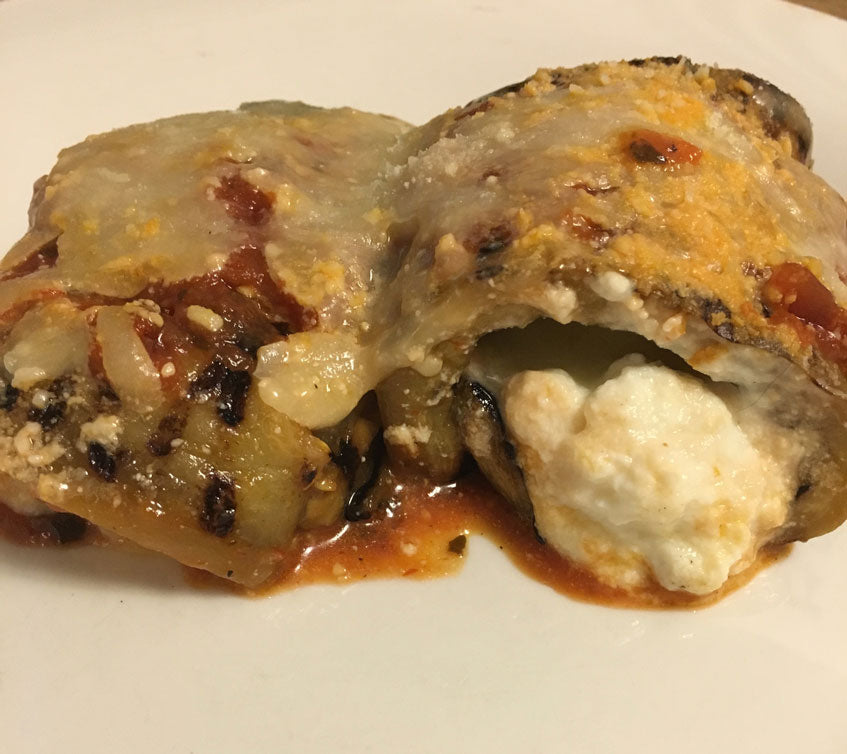 Stuffed Eggplant with Ricotta Cheese