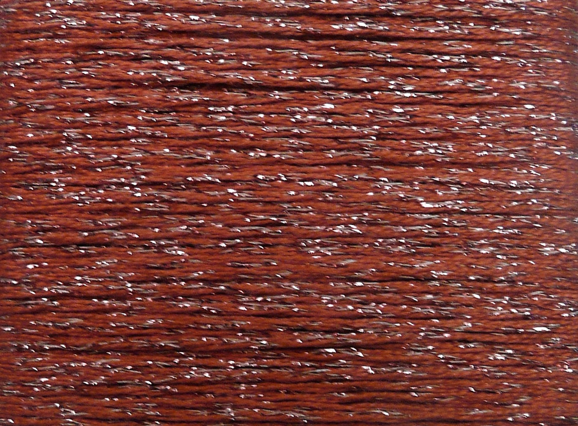 Silk Lame Braid 18 Count- Pinks, Reds, Oranges, Browns, Yellows