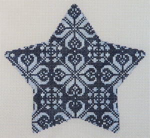 Navy Nordic Star Ornament