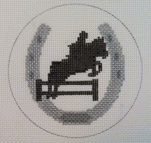 Horse Shoe with Jumper Ornament