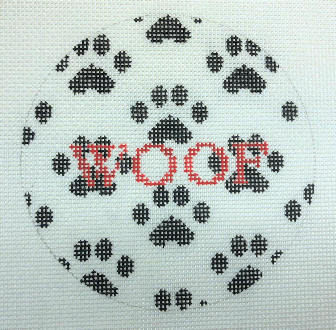 """Woof""w/paws Ornament"