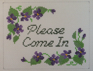 """Please Come In"" w/Violets"