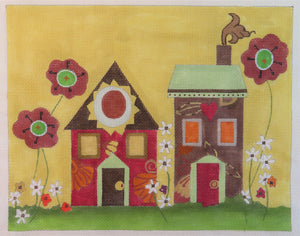Houses w/ flowers