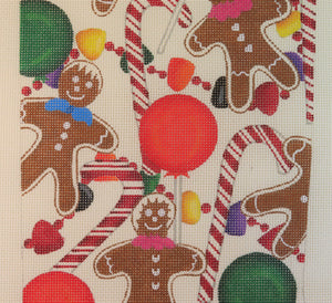 Gingerbread & Candy Stocking