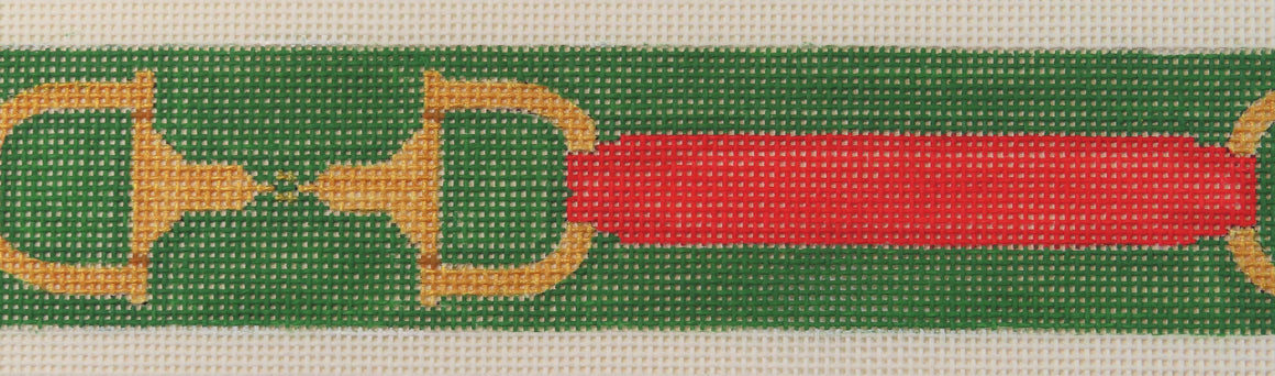 Red & Green Horse Bit Belt