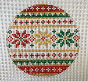 Red/Gold/Green Snowflake Ornament