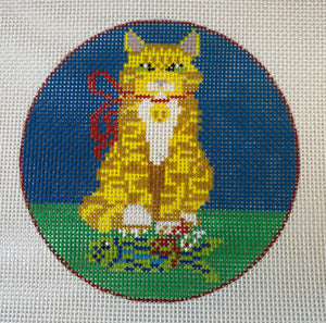 Cat with Fish Ornament