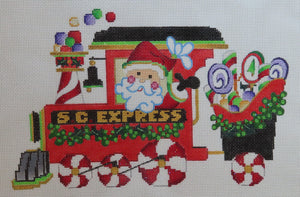 Xmas Train Engine with Santa