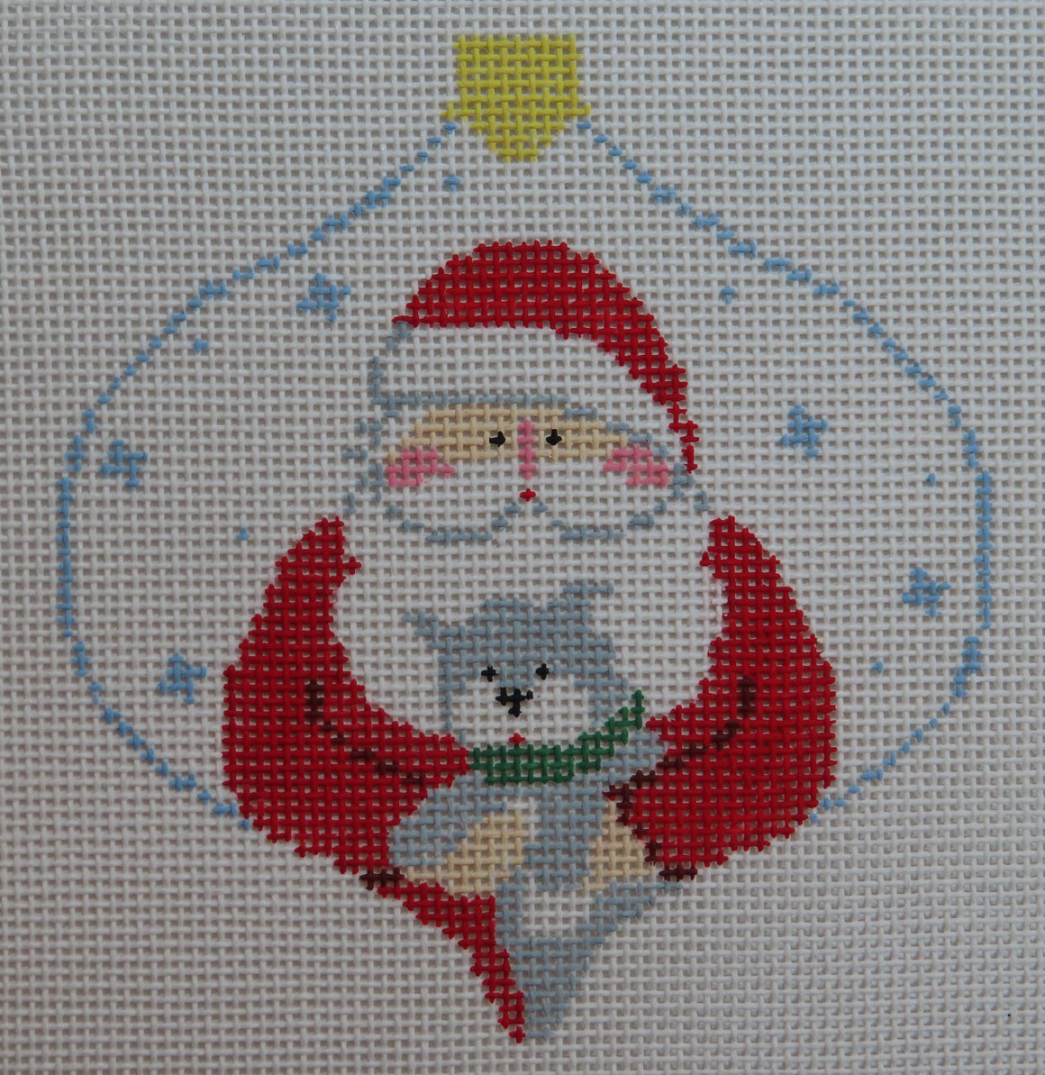 Santa with Kitty Ornament