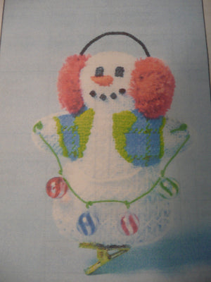 Snowman w/ Earmuffs w/ Stitch Guide