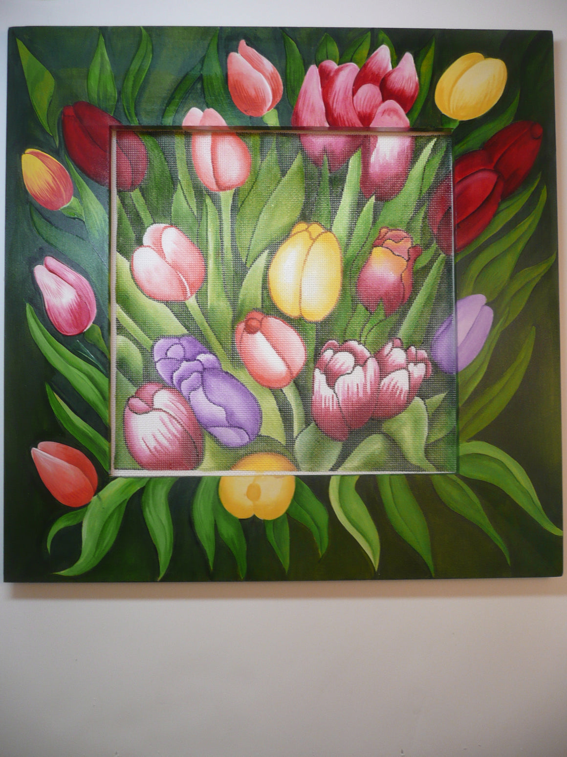Tulips Frame and Canvas