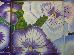 Purple Pansy Frame and Canvas