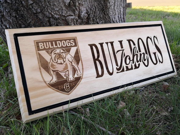 Personalised handmade wooden sign for NRL fans -plaque - FREE SHIPPING WITHIN AUSTRALIA