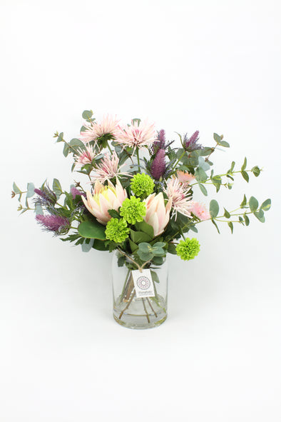 Pink and Purple Artificial Native Flower Arrangement