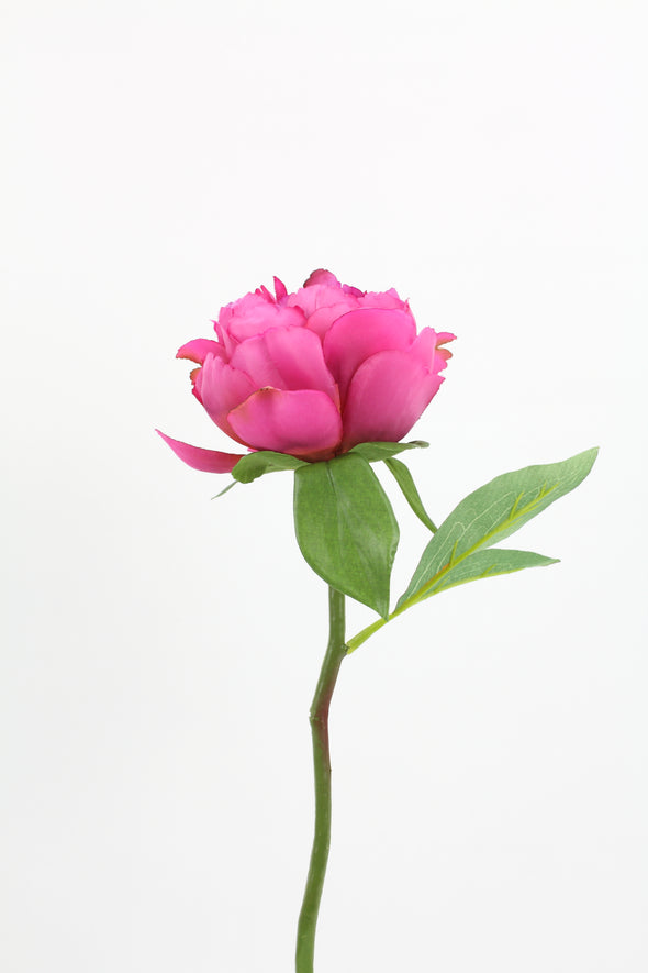 Hot pink artificial Peony flower stem