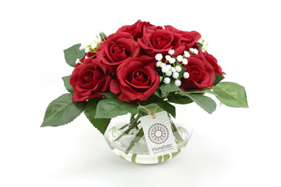 Real touch red rose artificial flower arrangement