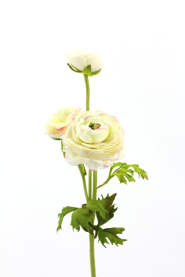 Ranunculus Spray White Real Touch
