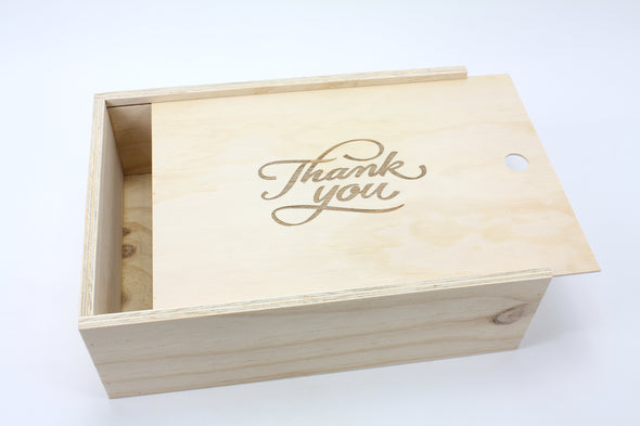 Handmade Wooden Thank You Gift Box - Keepsake Box - FREE SHIPPING WITHIN AUSTRALIA