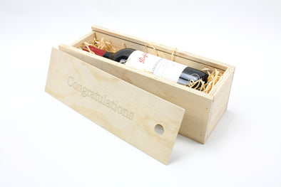 Personalised Wooden Wine Box - FREE SHIPPING WITHIN AUSTRALIA