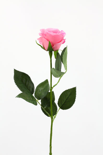 real touch artificial pink rose stem