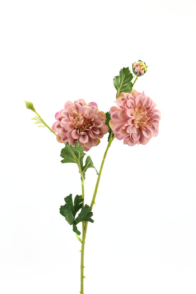 Dahlia Artificial Flower Spray - Dusty Pink 60cm