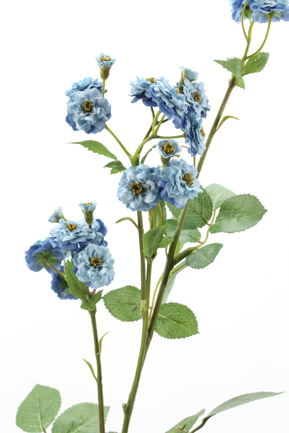 Mini Pompon Rose Spray Blue 73.7cm