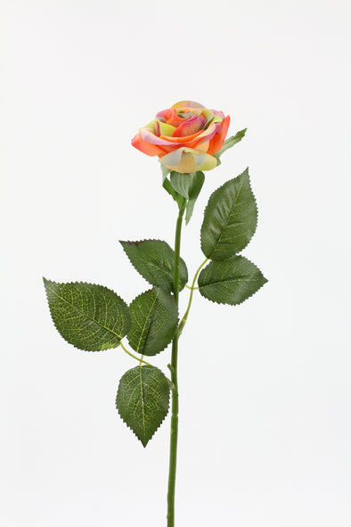 real touch rainbow coloured rose stem