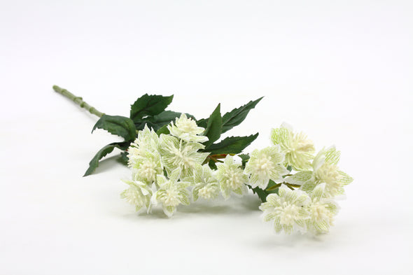 Astrantia Artificial Flower Spray - White 49cm