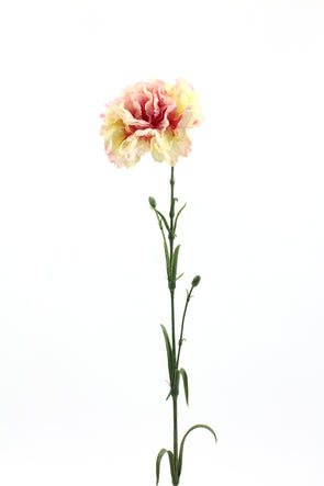 Carnation Artificial Flower - Cream Pink 61cm
