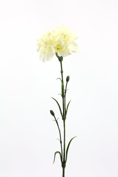Carnation Artificial Flower - White 61cm