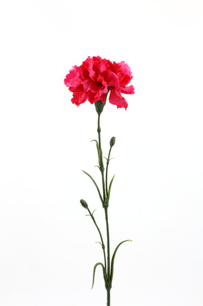 Carnation Artificial Flower - Dark Pink 61cm