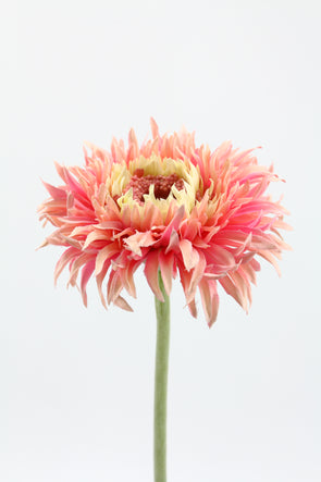 salmon coloured artificial amazon gerbera flower stem