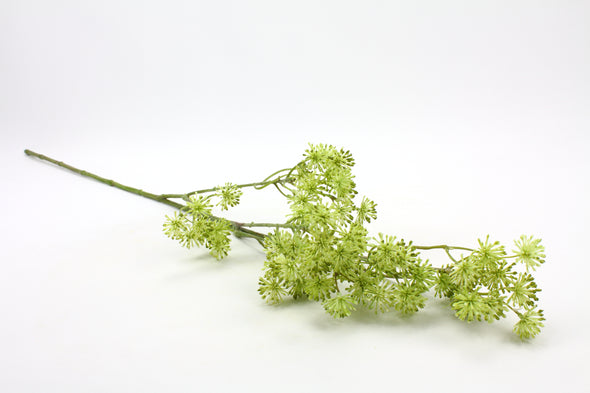 Aralia Artificial Flower Spray - Green 85cm