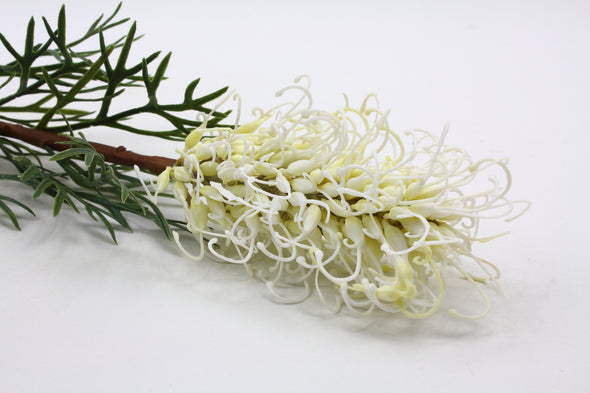 Grevillea Artificial Flower Native Stem - Cream 82cm