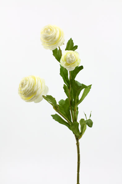 Petite Ranunculus Spray Cream 42cm