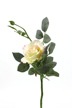 Artificial rose stem in cream pink colour